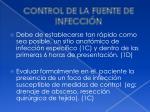 control de la fuente de infecci n