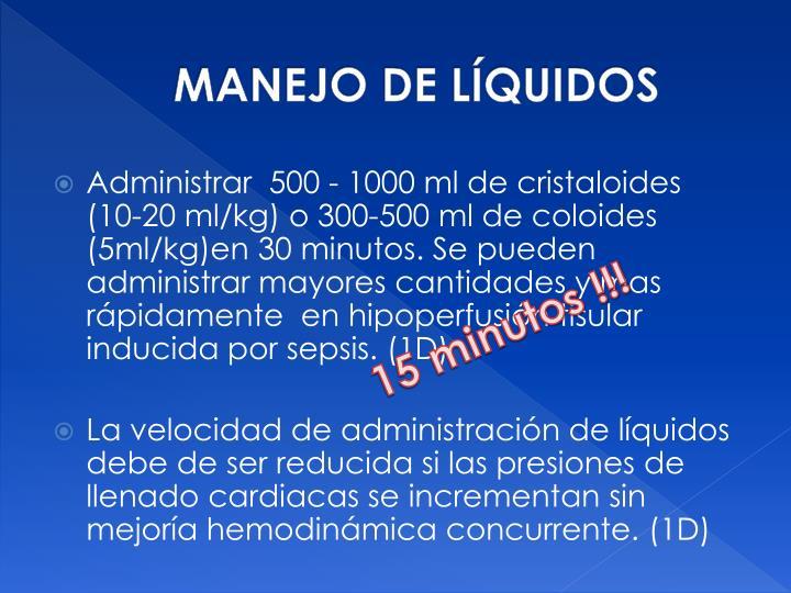 MANEJO DE LÍQUIDOS