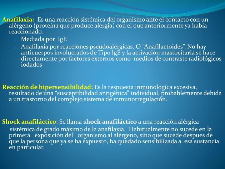 Anafilaxia: