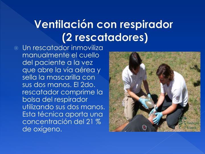 Ventilación con respirador
