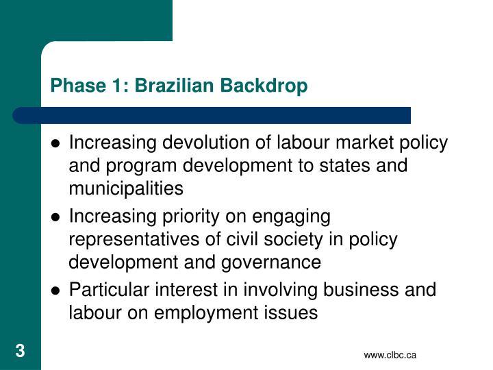 Phase 1: Brazilian Backdrop