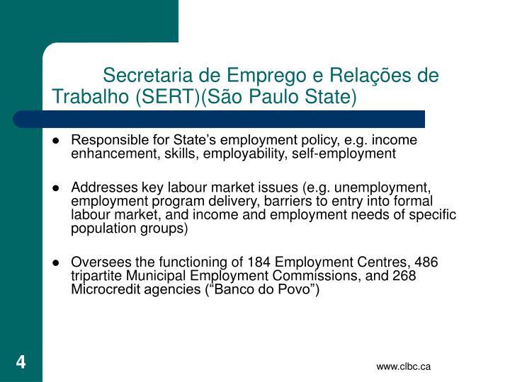 Secretaria de Emprego e Relações de Trabalho (SERT)(S