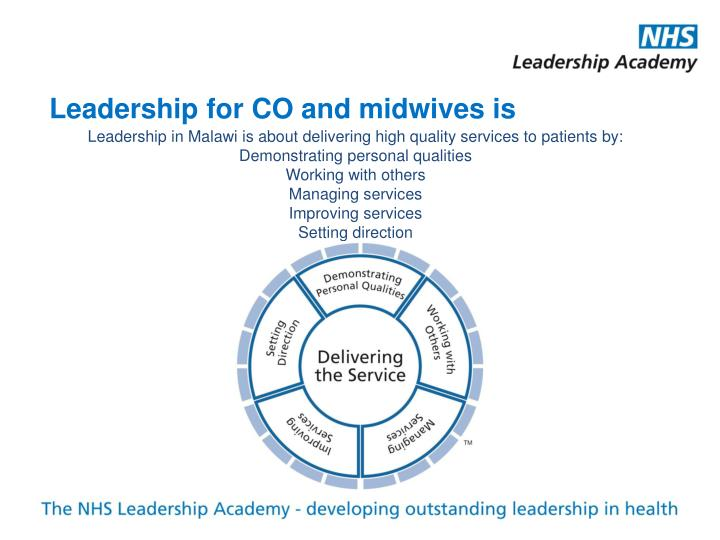 Leadership for CO and midwives is