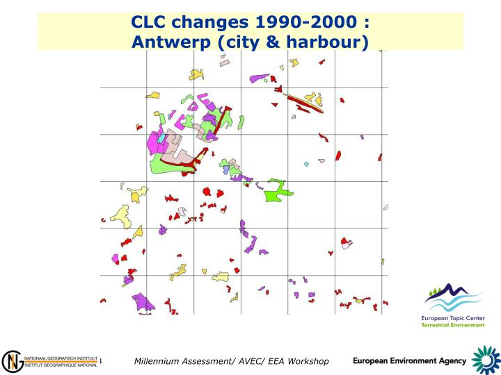CLC changes 1990-2000 :