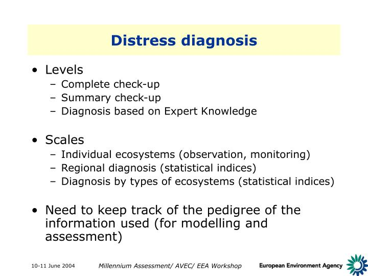 Distress diagnosis