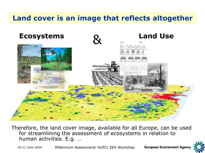 Land cover is an image that reflects altogether
