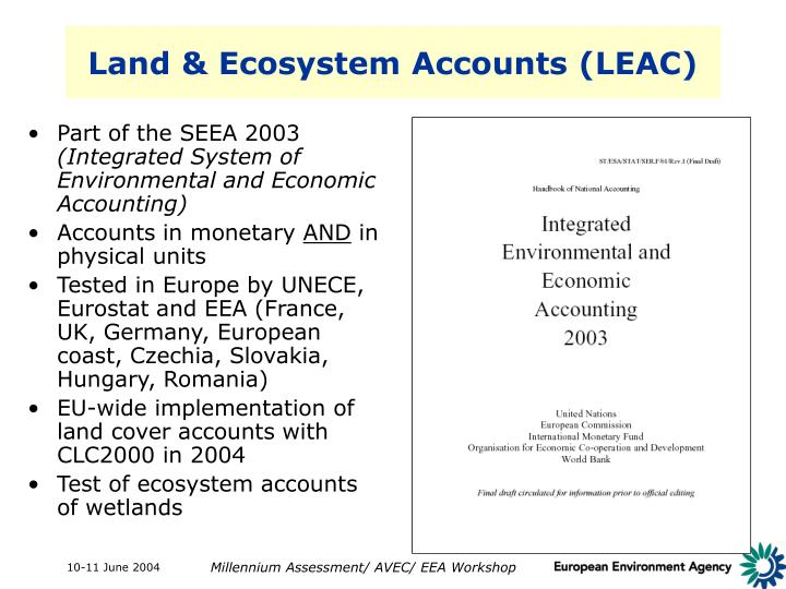 Land & Ecosystem Accounts (LEAC)