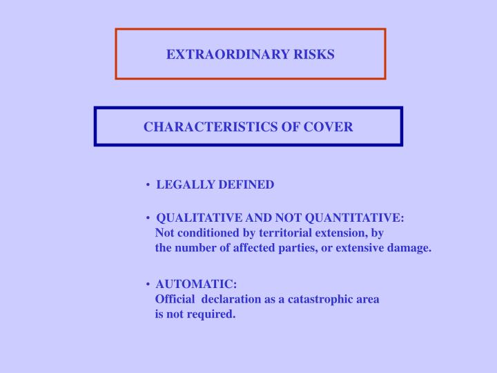 EXTRAORDINARY RISKS