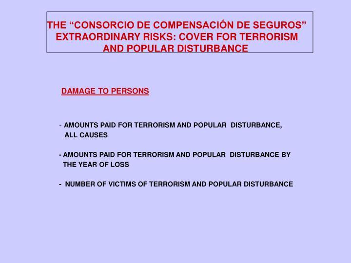 """THE """"CONSORCIO DE COMPENSACIÓN DE SEGUROS"""""""