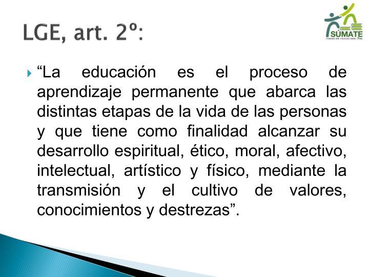 LGE, art. 2º: