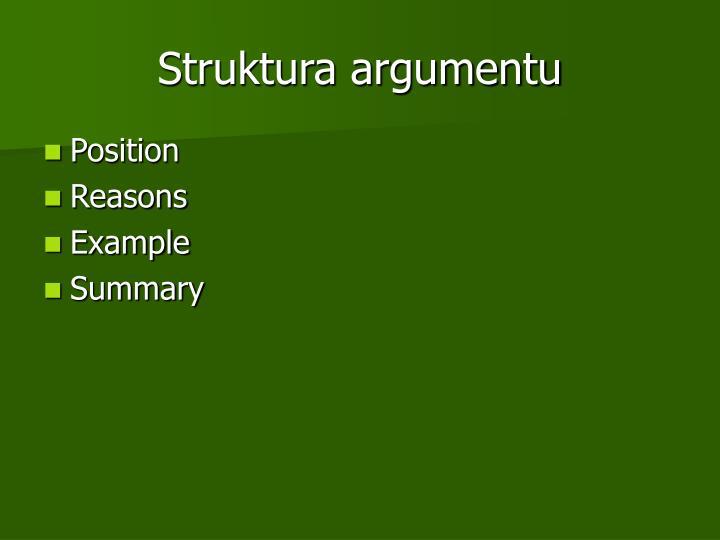 Struktura argumentu