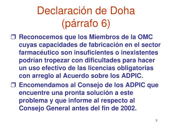 Declaración de Doha