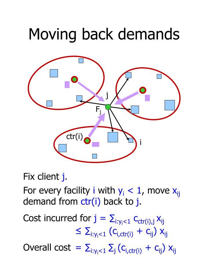 Moving back demands
