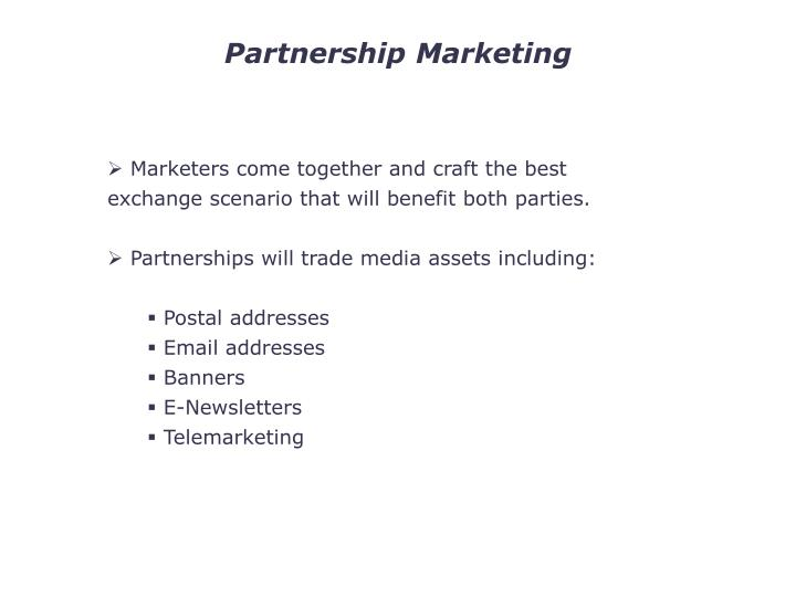 Partnership Marketing