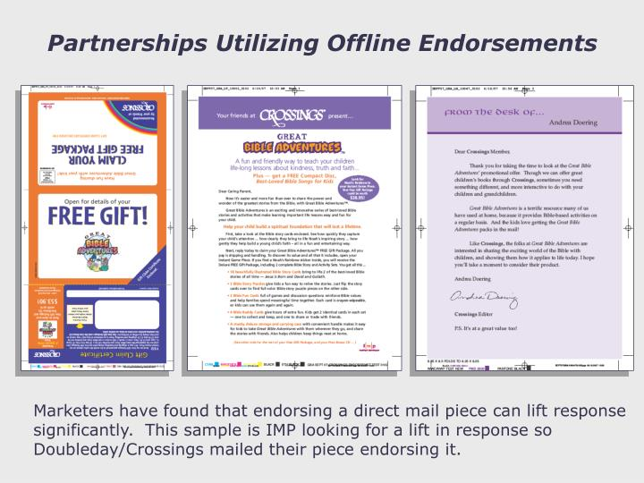 Partnerships Utilizing Offline Endorsements