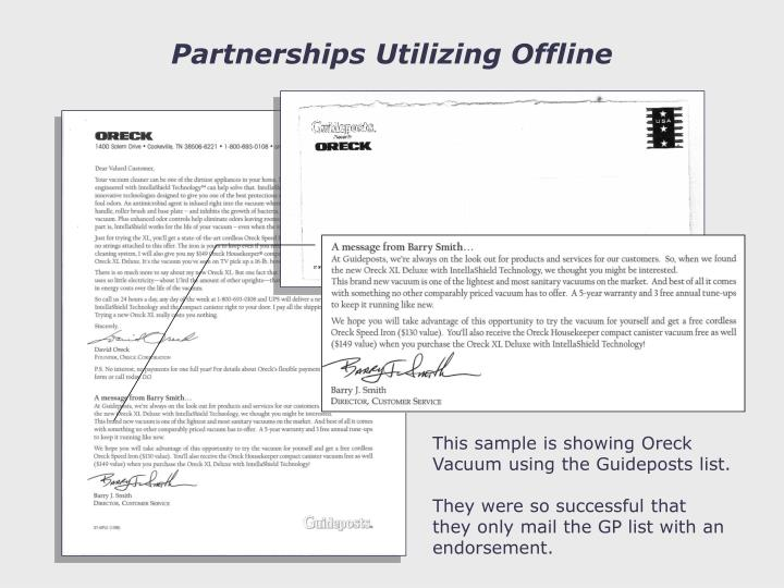 Partnerships Utilizing Offline