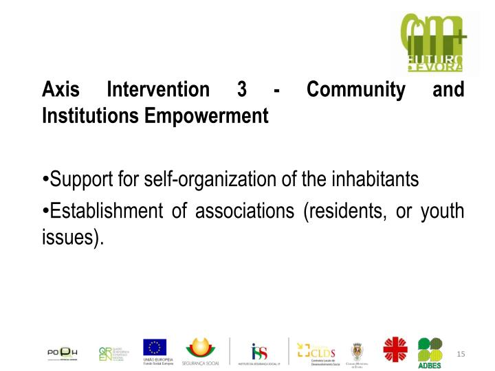 Axis Intervention 3 - Community and Institutions