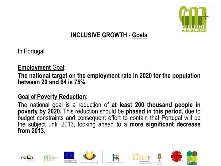 INCLUSIVE GROWTH -