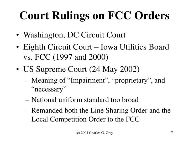 Court Rulings on FCC Orders