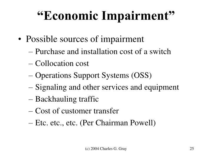 """""""Economic Impairment"""""""