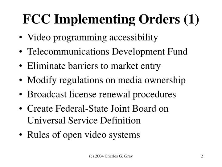 FCC Implementing Orders (1)