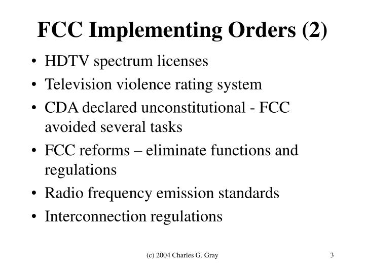 FCC Implementing Orders (2)