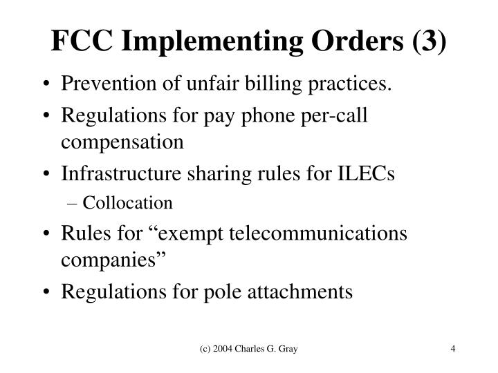 FCC Implementing Orders (3)