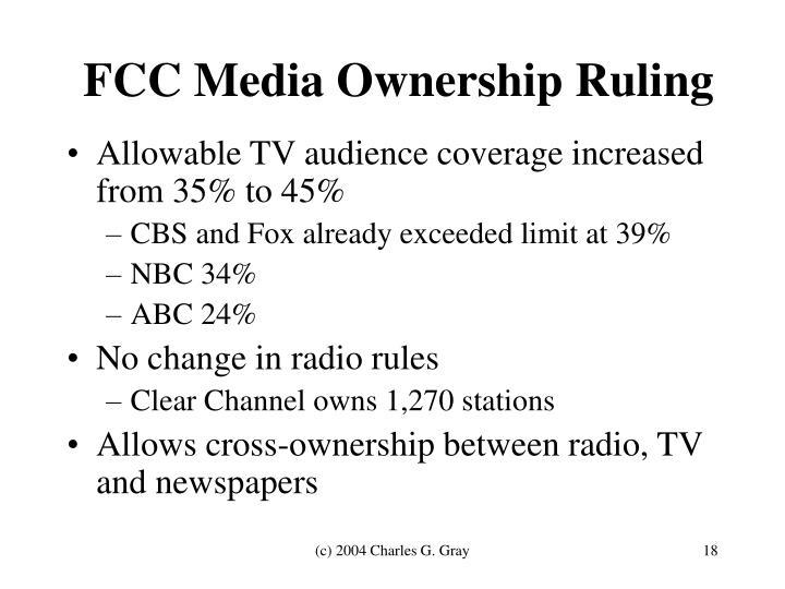 FCC Media Ownership Ruling