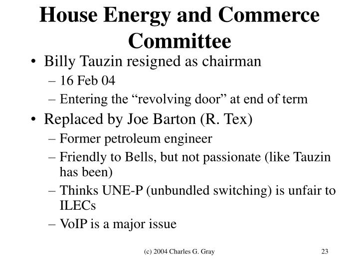 House Energy and Commerce Committee