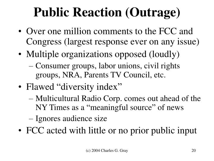 Public Reaction (Outrage)