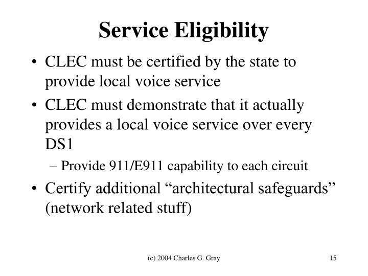 Service Eligibility