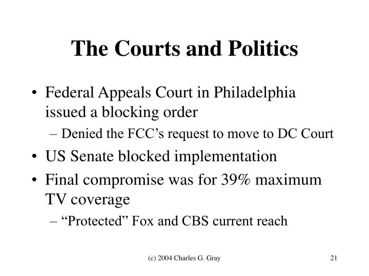 The Courts and Politics