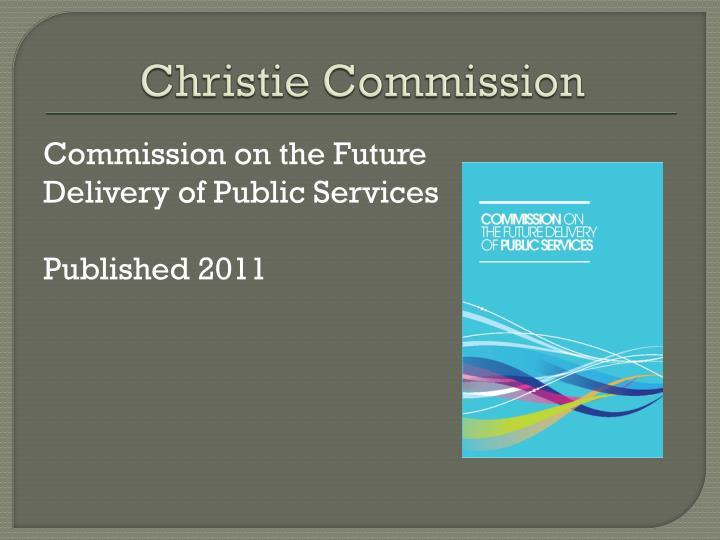 Christie Commission