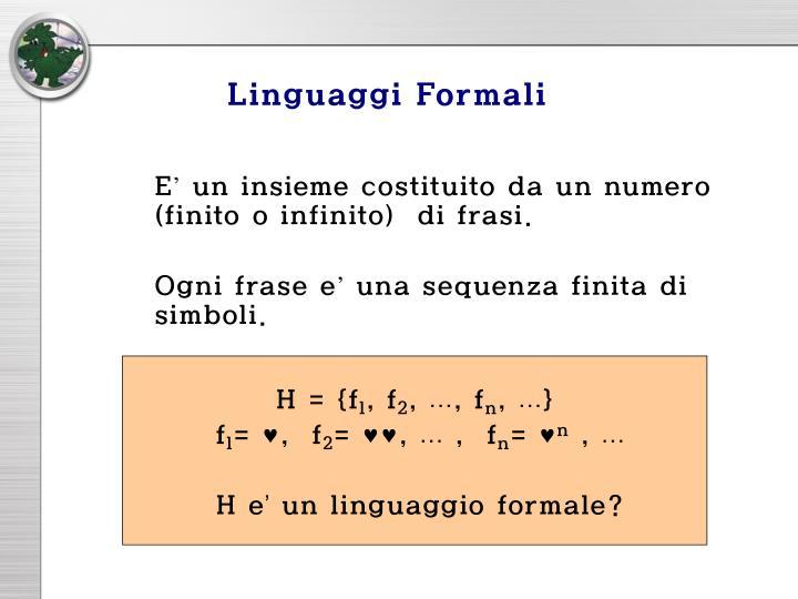 Linguaggi Formali