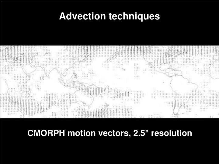 Advection techniques
