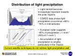 distribution of light precipitation