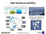high latitude precipitation