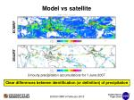 model vs satellite