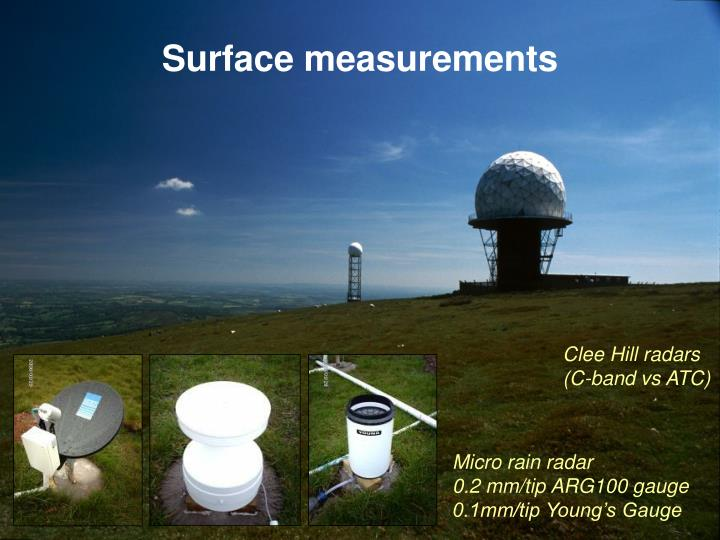 Surface measurements