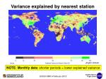 variance explained by nearest station