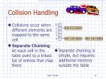 collision handling
