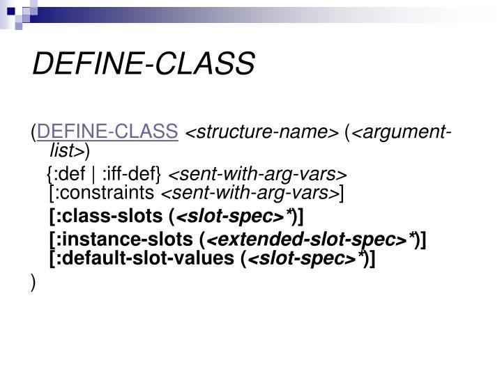 DEFINE-CLASS