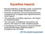 equalities impacts