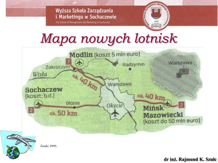 Mapa nowych lotnisk