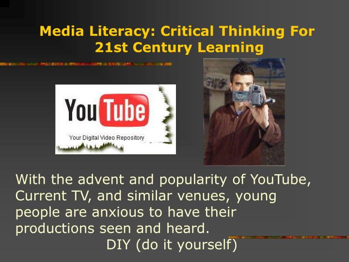 critical thinking media literacy In this edwebinar discover how you can help students grapple with these topics in a thoughtful, honest and civil way that encourages thinking about their own biases.