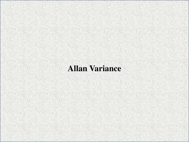Allan Variance