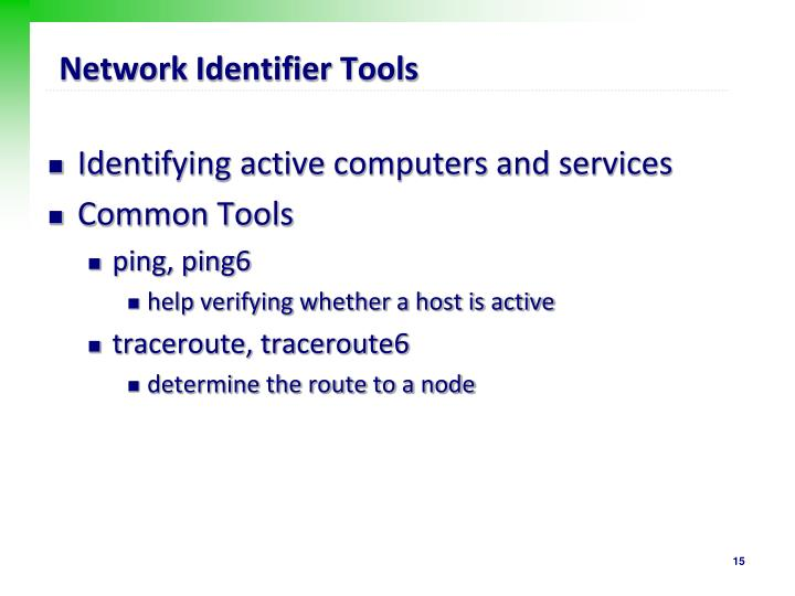 Network Identifier Tools