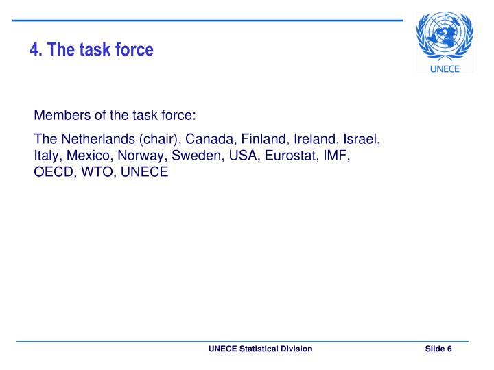 4. The task force