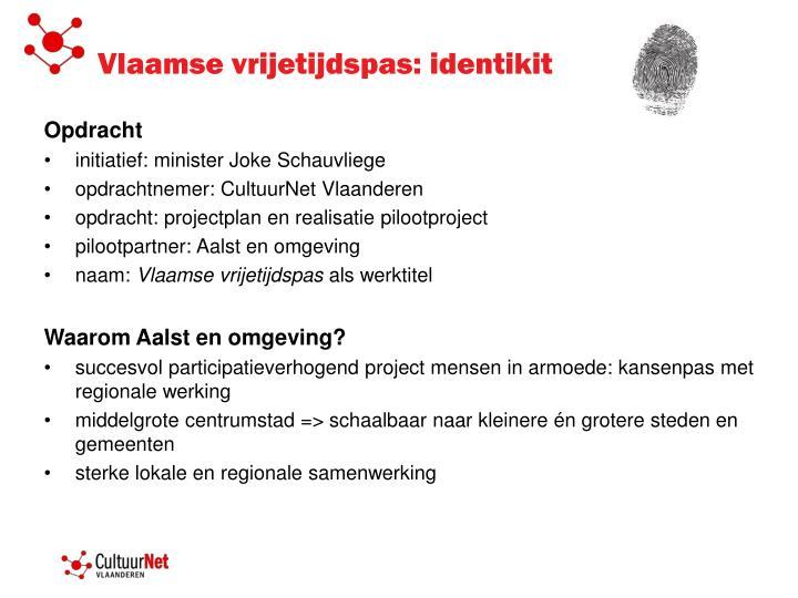Vlaamse vrijetijdspas: identikit