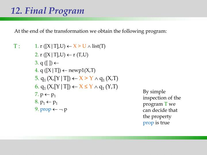12. Final Program